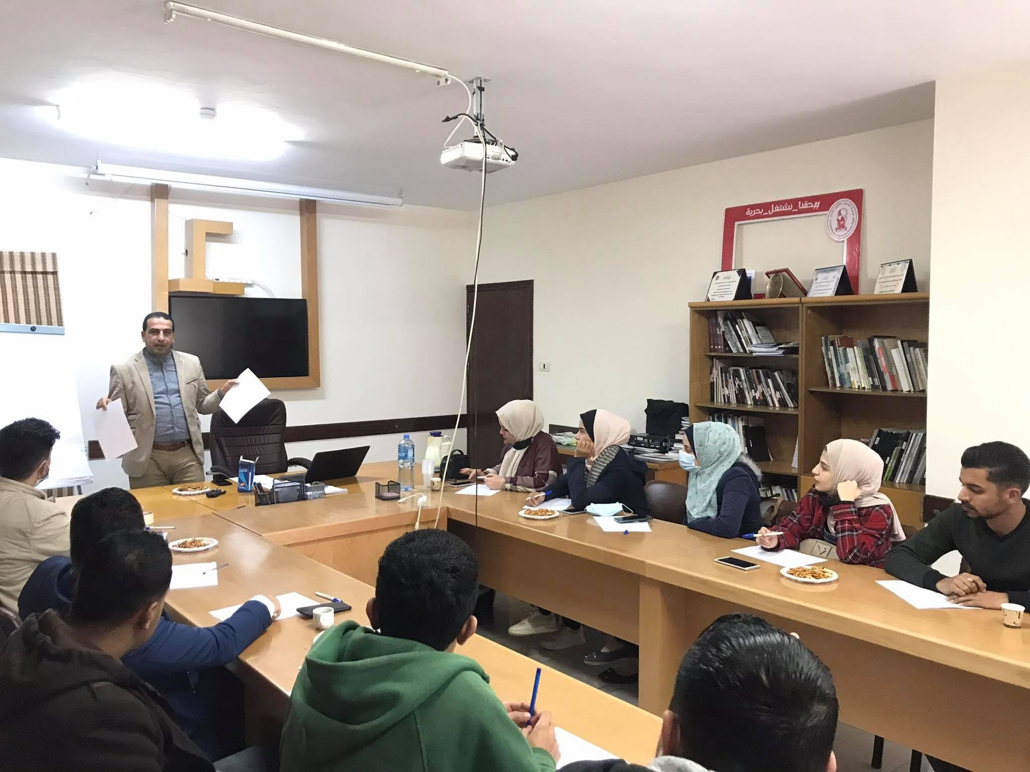 Al-Dameer holds a training meeting on the code of conduct for election observers during the election process.